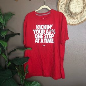 Nike Red Graphic Short Sleeve Shirt XXL